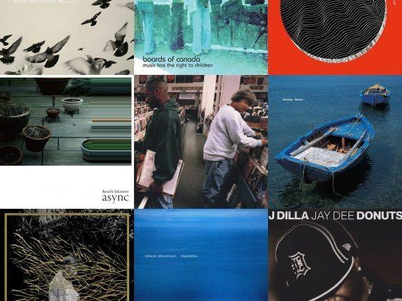 Von Boards of Canada über Ryuichi Sakamoto bis zu Venetian Snares - der Plattenkoffer von Sven Helbig. Collage: detektor.fm