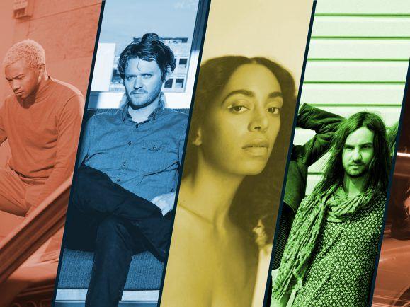 2019 wird bunt, u.a. mit neuen Platten von Toro Y Moi, Beirut, Solange und Tame Impala. Collage: detektor.fm