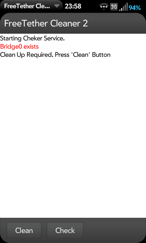 FreeTether Cleaner Screenshot 0
