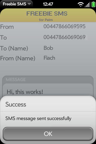 Freebie SMS UK Screenshot 0