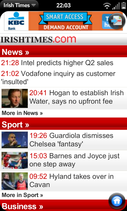 Irish Times Screenshot 0