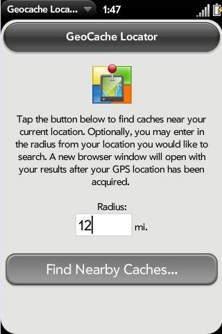 Geocache Locator Screenshot 0