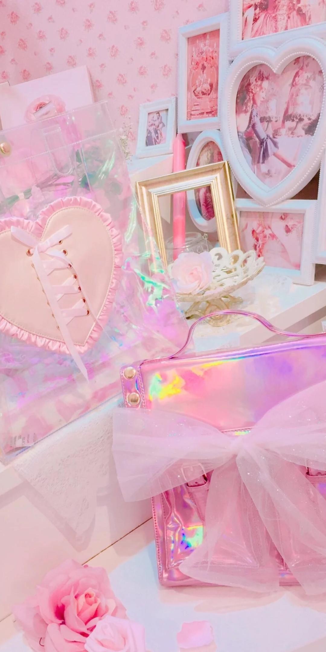 粉色系少女心手机壁纸插图65