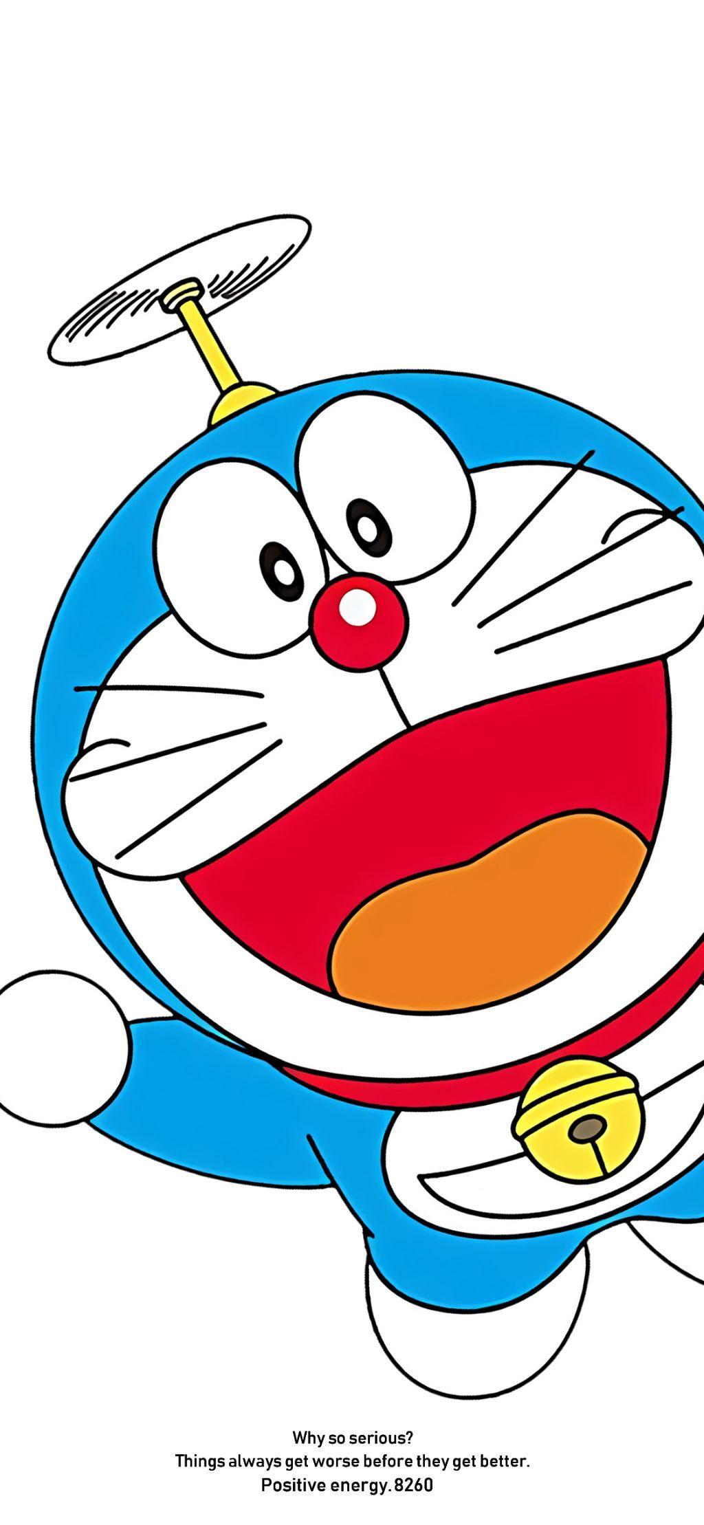手机壁纸:蓝胖子、多啦A梦、叮当猫手机壁纸,赶紧换上。插图19