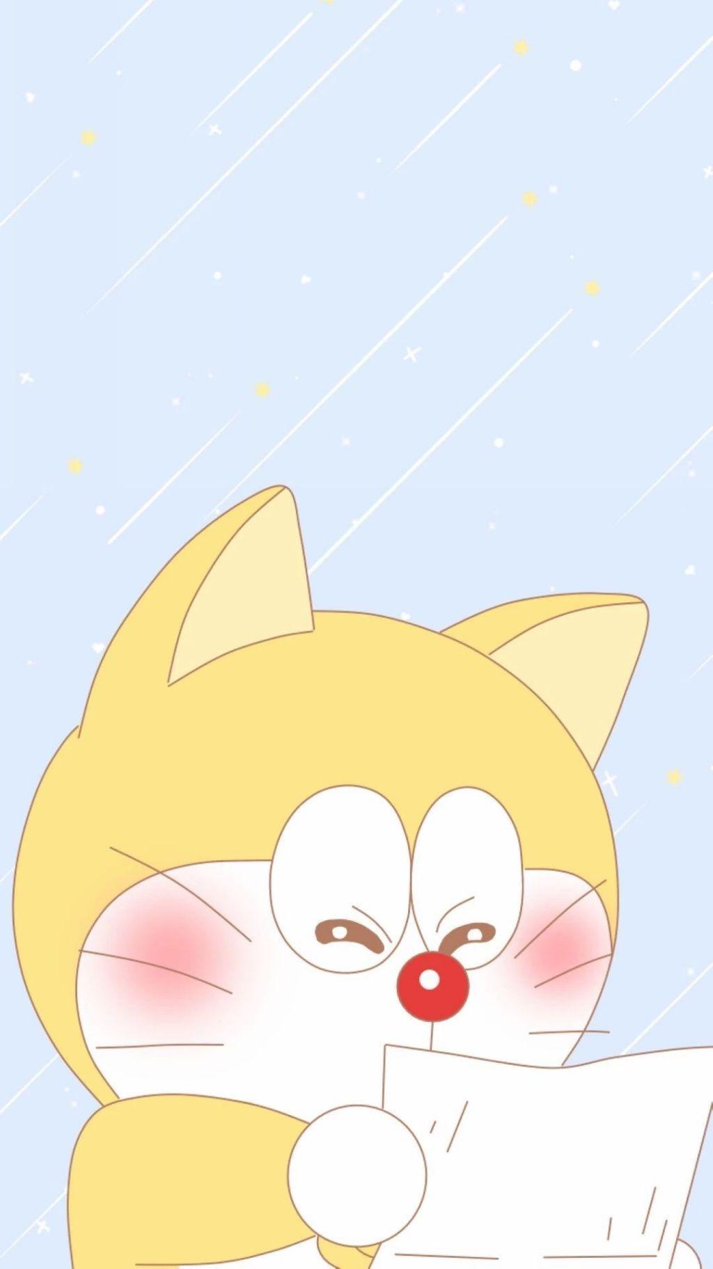 哆啦A梦壁纸:可爱哆啦A梦蓝胖子手机壁纸插图23