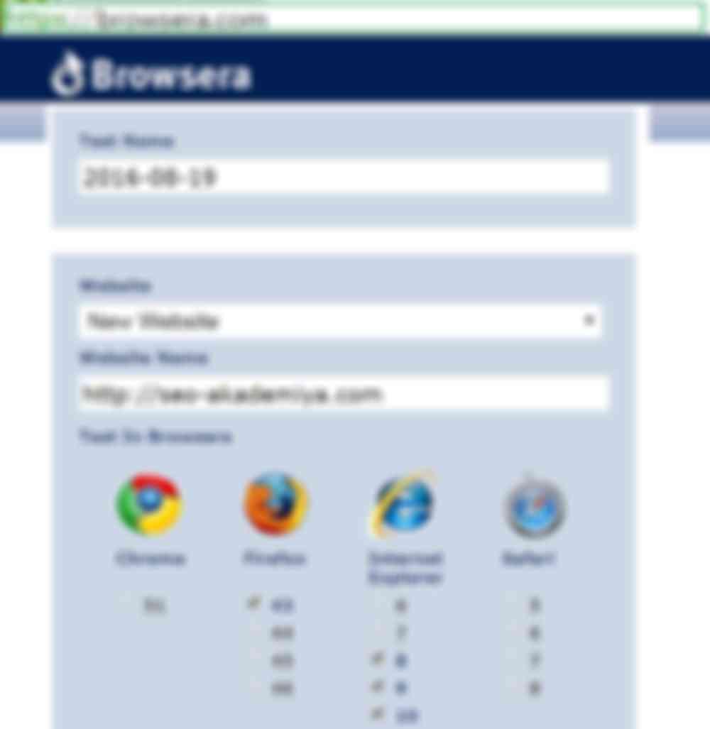 Сервис проверки кроссбраузерности онлайн Browsera