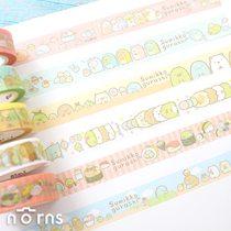 Norns【角落生物紙膠帶】正版授權 SAN-X 手帳卡片裝飾貼紙 日本和紙 恐龍貓咪 角落小夥伴 可愛