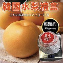 【天天果園】韓國甜潤XXL水梨禮盒(每顆約500g) x6顆