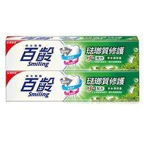 百齡Smiling 琺瑯質修護牙膏-草本薄荷150gx2入組