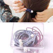 梨花HaNA 韓國美麗的一周溫柔髮圈12件禮盒套組