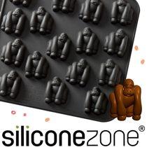 Siliconezone 施理康ZOO耐熱黑猩猩巧克力模/冰模-黑色