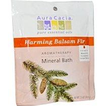 Aura Cacia, 芳香療法礦泉浴,溫暖香脂冷杉,2.5盎司(70.9克)