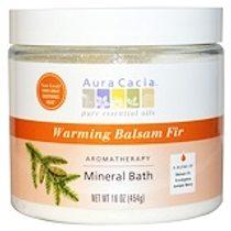 Aura Cacia, 芳香療法礦泉浴,溫暖香脂冷杉,16盎司(454克)