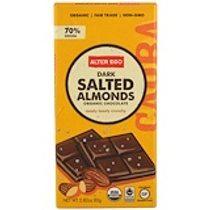 Alter Eco, 有機巧克力,黑色鹽焗杏仁,2.82盎司(80克)