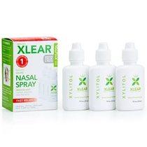Xlear, 木糖醇,天然鹽水噴鼻劑,3 瓶,每瓶 0.75 液量盎司(22 毫升)