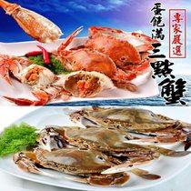 第二件5折【鮮綠生活】鮮凍有卵三點蟹(母蟹 (約7~8隻)淨重900g /盒)