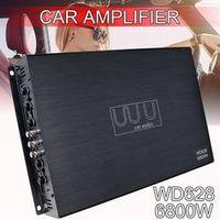 Audew DC 12V 6800 Watt 4-Channel Stereo Bass Speaker Subwoofer Car Audio Amplifiers