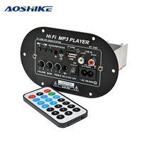 AOSHIKE 12V 24V 220V Subwoofer Board Car Audio Amplifier Support AUX USB TF