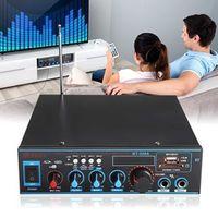 Audew Audio Stereo Amplifier 220V/12V Bluetooth Digital USB FM SD Mic Home Car
