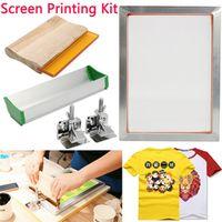 DOERSUPP 5Pcs/Set Kit Aluminum Frame Hinge Clamp Emulsion Scoop Coater Tool Parts