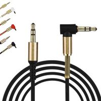 Woopower 10pcs Gold Plating 3.5mm Male Car Aux Auxiliary Cord Jack Stereo Audio Cable