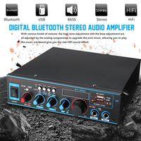 KROAK 2x60W Audio Power Stereo Digital Amplifier 220V/12V Bluetooth USB FM SD Mic
