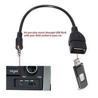 Ai CAR FUN 2019 3.5mm Male Audio AUX Jack USB 2.0 Type Female OTG Converter Adapter