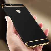 RYKKZ Luxury Case For Huawei Honor 7c Pro Cover 360 Degree Protection Hard PC Phone