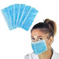 40/60/80pcs Facial Protective Cover Set Disposable 3 Layers Dustproof Anti-Dust