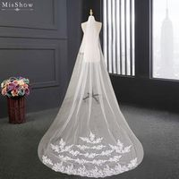 MisShow Wedding Veil Lace Edge Bridal Veil
