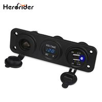 Herorider Auto Voltage Meter Motorcycle Boat Car Cigarette Lighter Socket Voltmeter