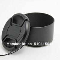 lower price 58MM METAL Lens Hood & 62MM LENS CAP Cap for Nikon AF-S 55-300mm NEW free shipping