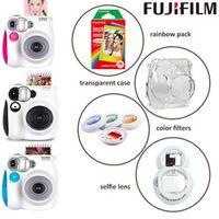 Genuine Fuji Fujifilm Instax Mini 7s Instant Camera Set with Monochrome Film Selfie