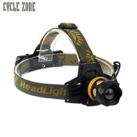 cycle zone 2000LM CREE XM-L T6 LED Headlight Flashlight Head Lamp 18650 Battery