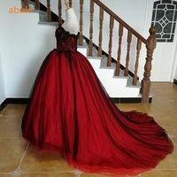 abule wedding dress lace up train sleeveless Bridal Gown