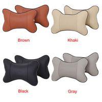 CARPRIE Car-styling Seat Car Headrest Leather Supplies Neck Pillow Pair Auto td15