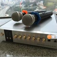 TIANCOOLKEI TP-WX100 Home singing VHF Wireless Preamplifier With 2 Mic Receiver