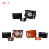 New PU Leather Oil Skin Camera Case Bag Cover for Sony HX90V HX90 WX500 Camera With Shoulder Strap,3 Colors For Choose
