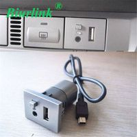 Biurlink Car 2 in 1 AUX USB Slot Button With Mini Cable For Ford Focus 2009 -