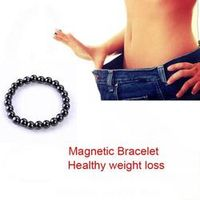 magnetic therapy Weight Loss Adjustable Round Black Stone Bracelets Slimming men