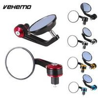 "Vehemo 1Pair 7/8"" Round Bar End Rear Motorcycle Motorbike Scooters Rearview Mirror"