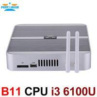 Partaker 6 Gen CPU Skylake Core i3 6100U Fanless Mini PC Barebone Intel HD Graphics