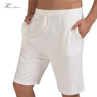 Sleep Bottoms Summer Men  Leisure Home Furnishing Modal Thin Pajama Pants Five Short Bamboo Fiber 36