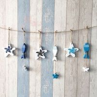JETTING 1Pcs Mediterranean Starfish Hung Nautical hang Wood