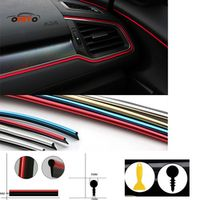 ontto 5 Meter Car moulding PVC decorative tape Auto dash panel trim strip