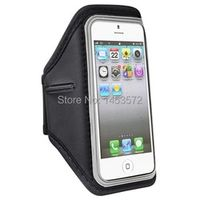 insten Silver Black Arm band Running Sports GYM Armband Case Cover for Apple iPhone