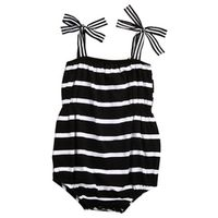 Summer 2017 Newborn Infant Baby Girls Sleeveles Romper Striped Jumpsuit Outfits Sunsuits Set Clothes