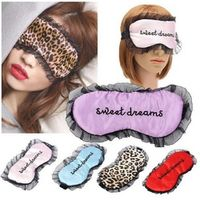 1pcs Women Travel Soft Silk Filled Sleeping Aids Eye Mask Cover Shade Blindfold Rest Shield 21.5*11cm Hot Selling2