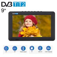 LEADSTAR Portable HD 9 Inch Digital Analog Receiver LED Television Car TV Support USB