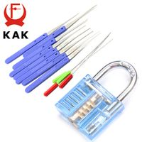 KAK Mini Blue Visible Pick Cutaway Practice Padlock Lock With Broken Key Removing